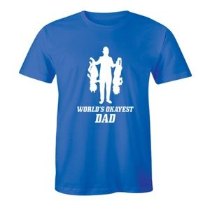World's Okayest Dad Father's Day Sarcastic T-shirt